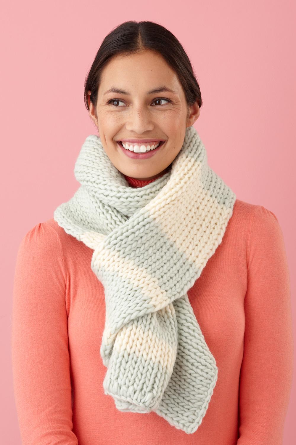 Вязание шарфом спицами