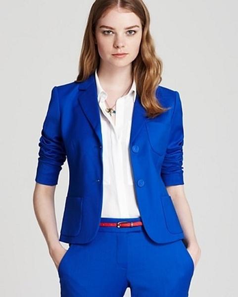 Темно синий костюм женский