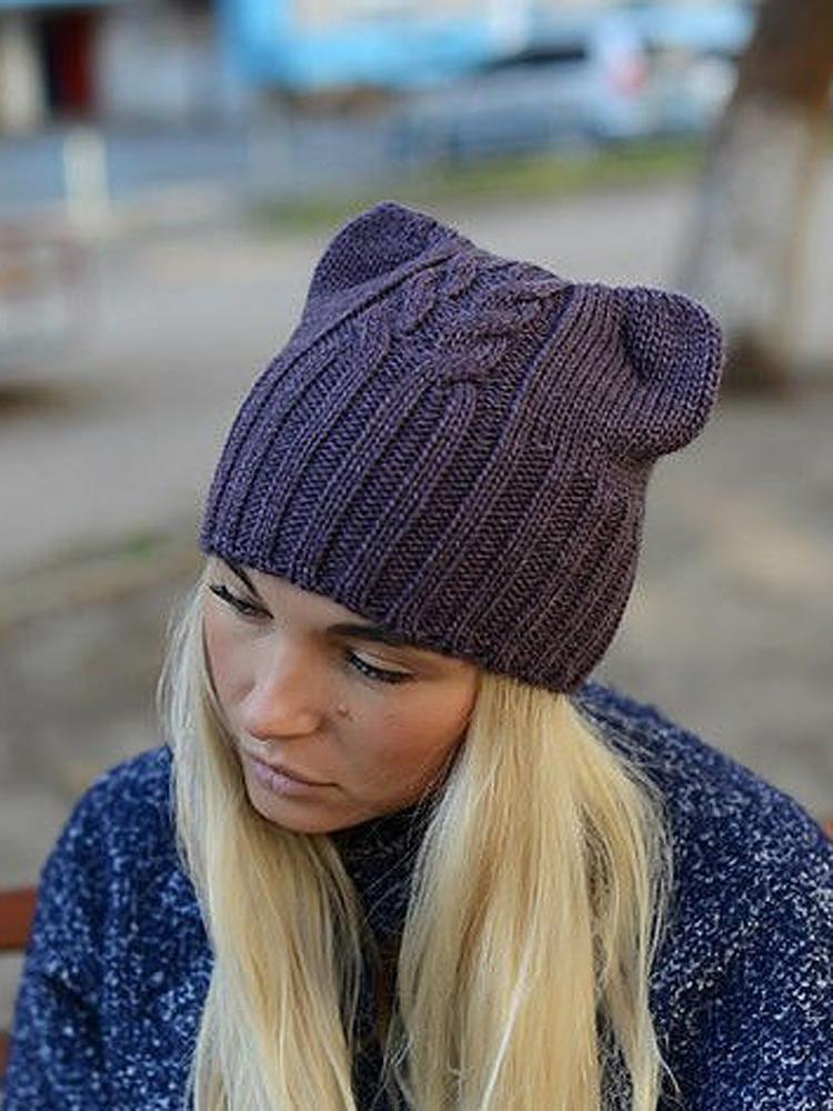 Вязание шапки спицами для молодежи 39