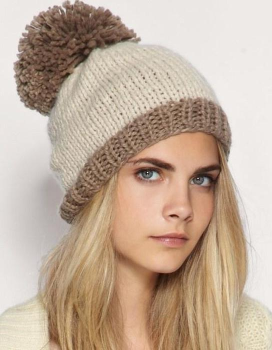 Вязание шапки для подростка и мужчины. Схема вязания 27