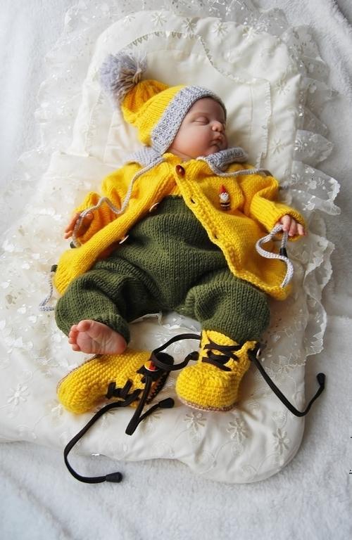 Вязанные костюмы для новорожденных фото