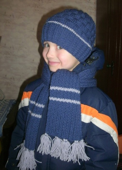 фото вязаные шапки для мальчика