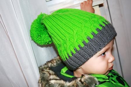 Вязание спицами шапка для мальчика 4 лет 52
