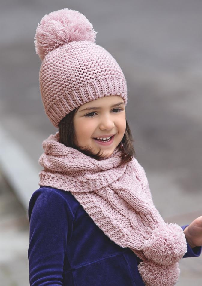 Вязанный шарф для девочки