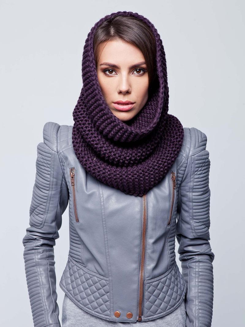 Блестящие Вязаный шарф-хомут (60 фото): снуд, труба на голову и на шею, как PW72