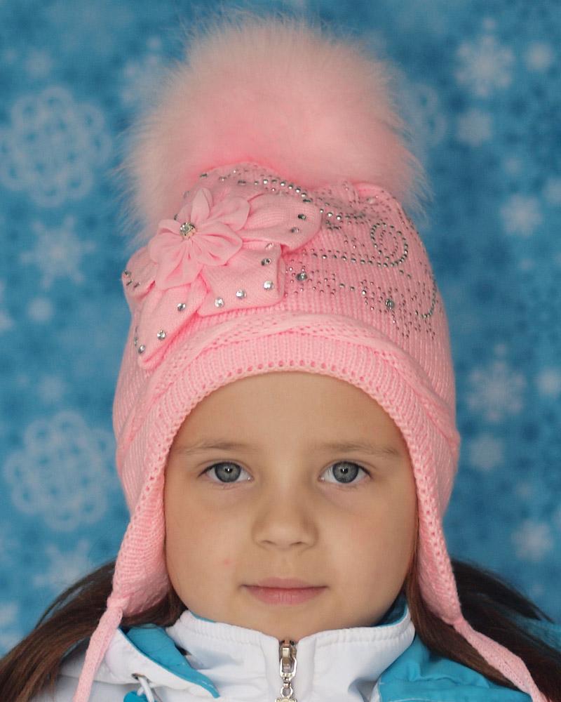 Зимние шапки для девочек (71 фото): детские вязаные шапки ...