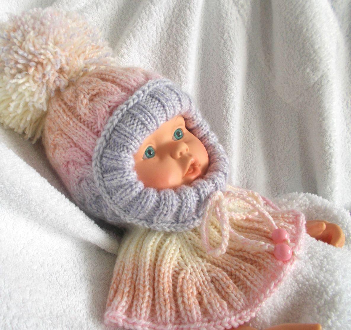 Детская зимняя шапка с ушками Вяжем 13