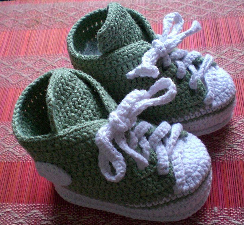 обувь для детей вязанная спицами
