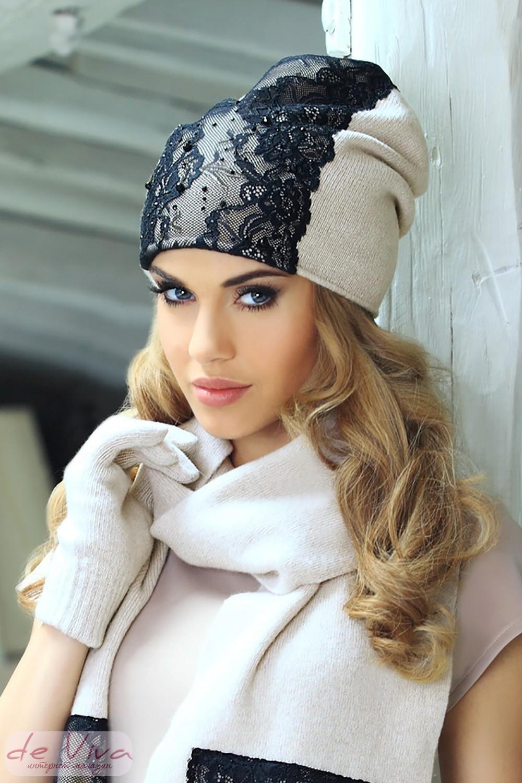 Украшения для вязаной шапки фото