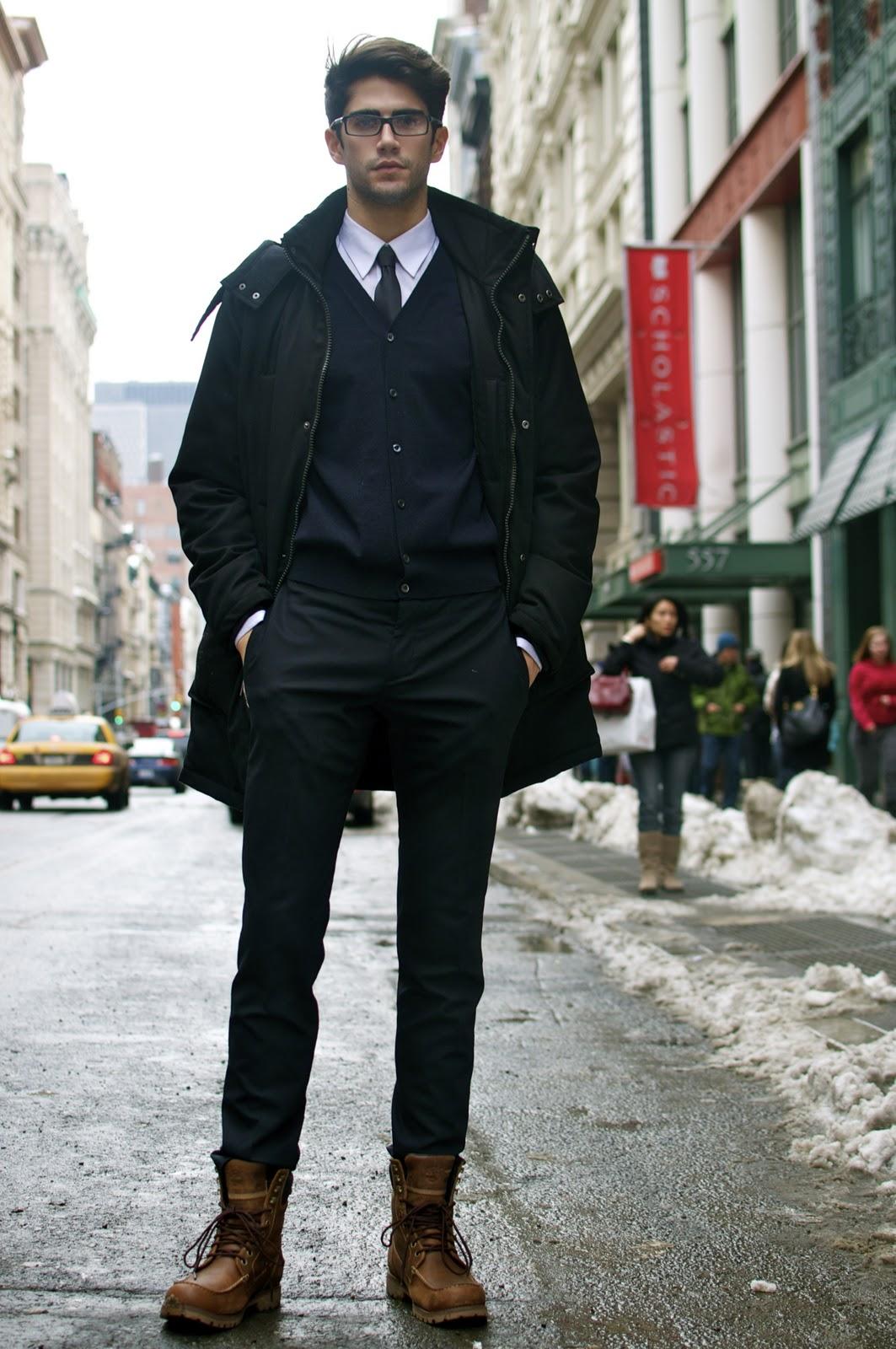 Black boots men fashion