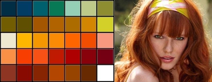 Цвет платья к рыжим волосам