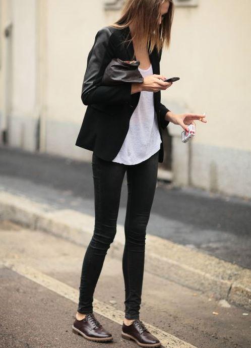 женские классические ботинки с чем носить фото