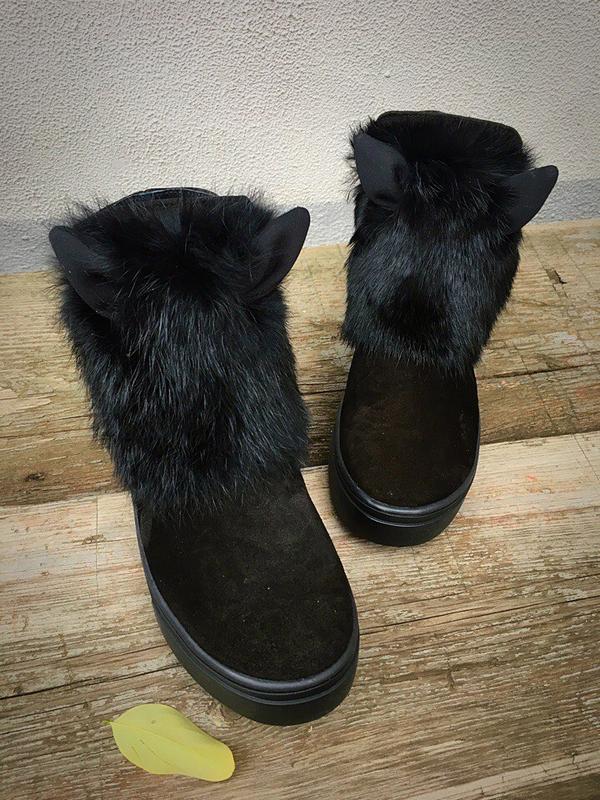 ботинки женские с мехом наружу фото