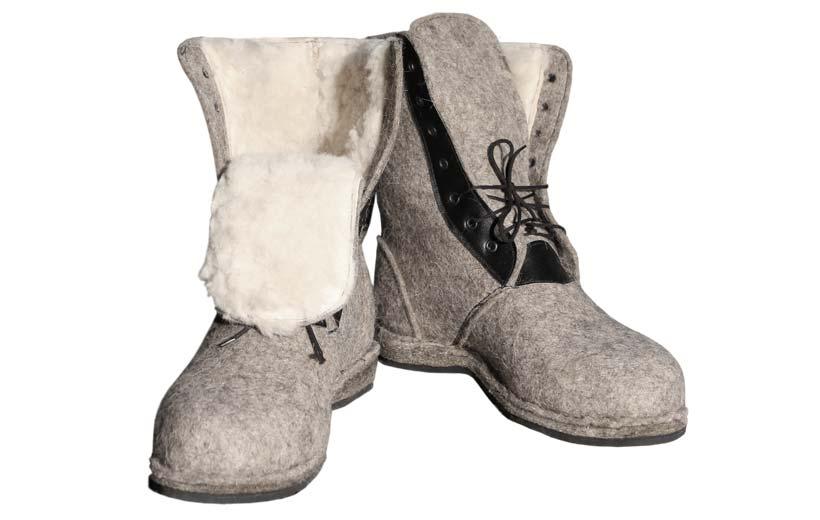 Ботинки из валенок своими руками 79