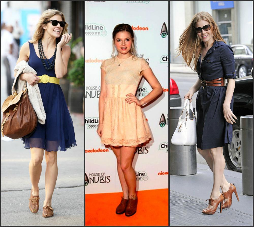 Платье с полуботинками