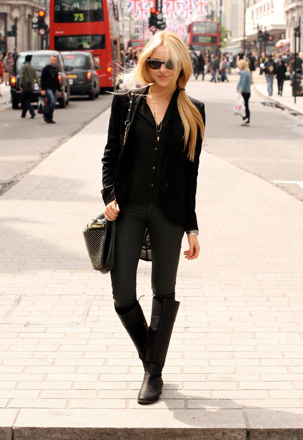 Сапоги к узким джинсам
