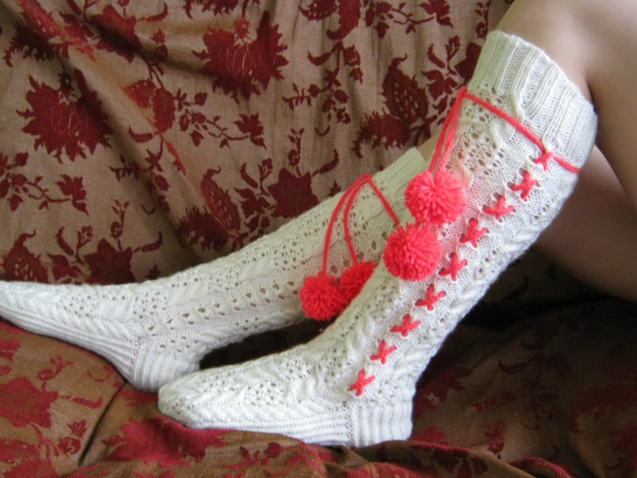 Женские носки крючком фото