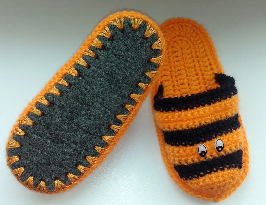Подошва для тапок вязание