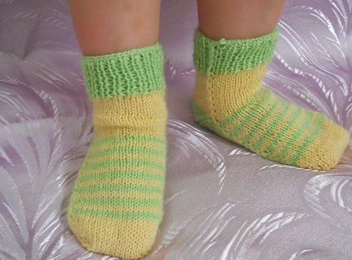 Связать носки для ребёнка