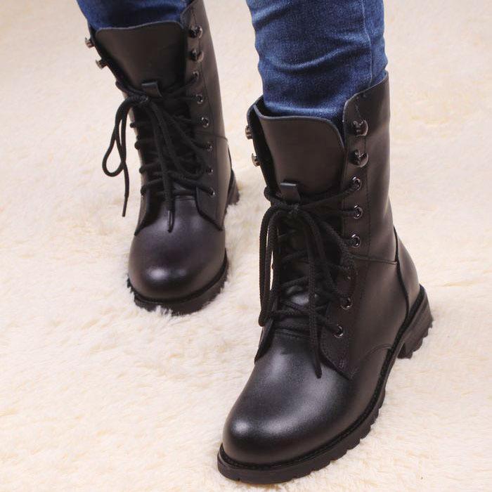 Зимние женские ботинки - натуральная кожа натуральный мех  кожаные ... 4dbb26d3116