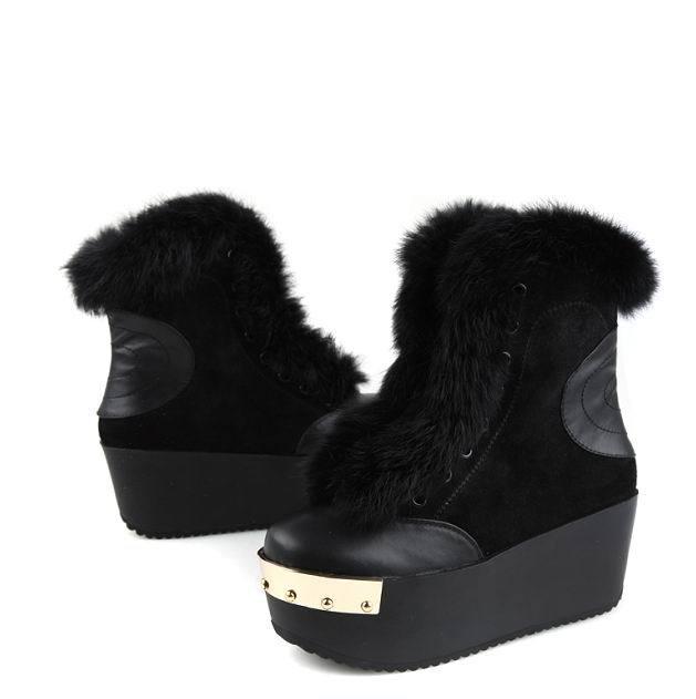 bcba31dac Зимние женские ботинки на платформе (35 фото): на высокой, с мехом