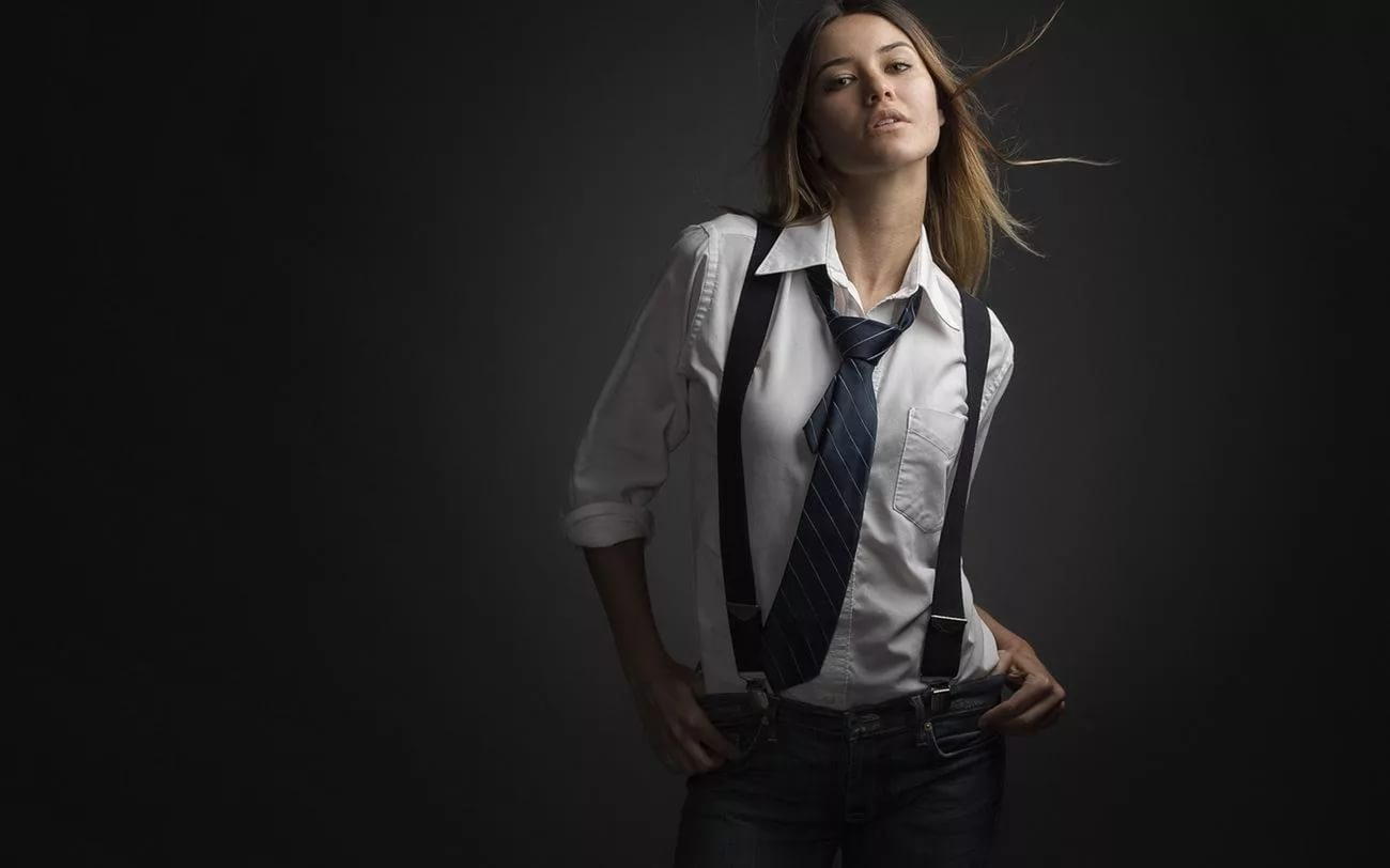 Рубашка и галстук фото девушка