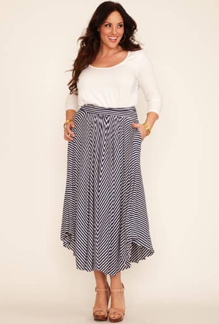 cdd21ddcceb Летняя одежда для полных женщин (41 фото)  модели больших размеров ...