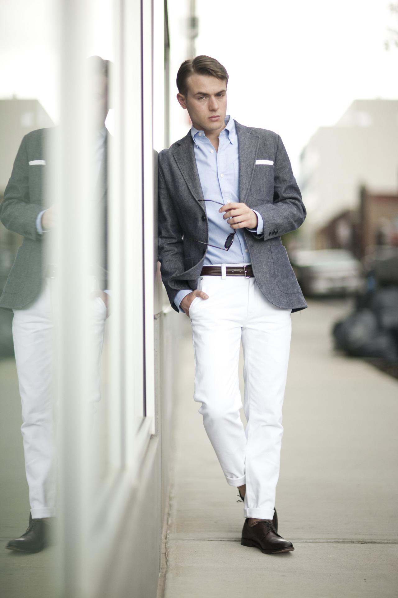 Casual wedding mens fashion How to dress for a wedding with David Gandy British GQ