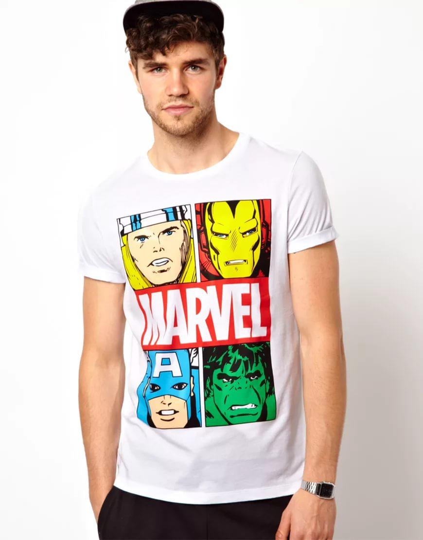 Рисунки марвел на футболках