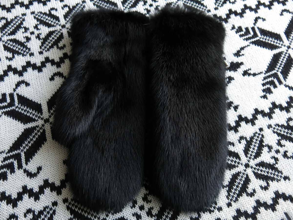 варежки из из меха норки 57 фото норковые рукавицы для холодов