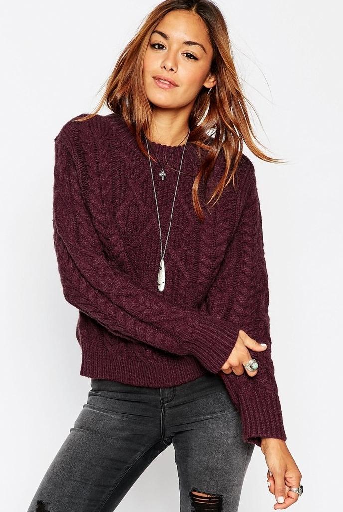 Модные вязаные свитера 2017 женские