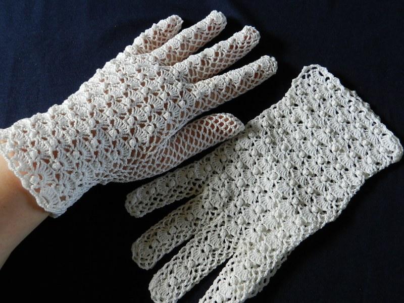 Вязание крючком перчаток без пальцев ажурные
