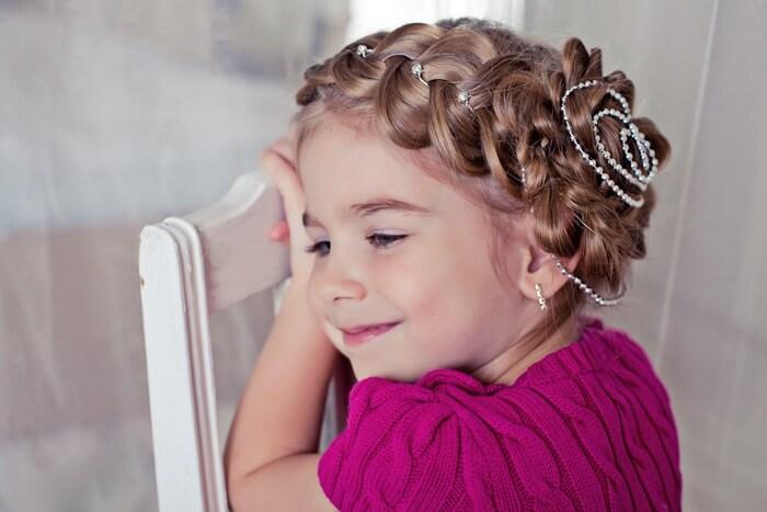 Детские новогодние прически для девочек