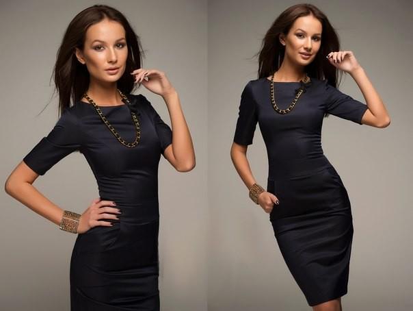 Купить черное простое платье