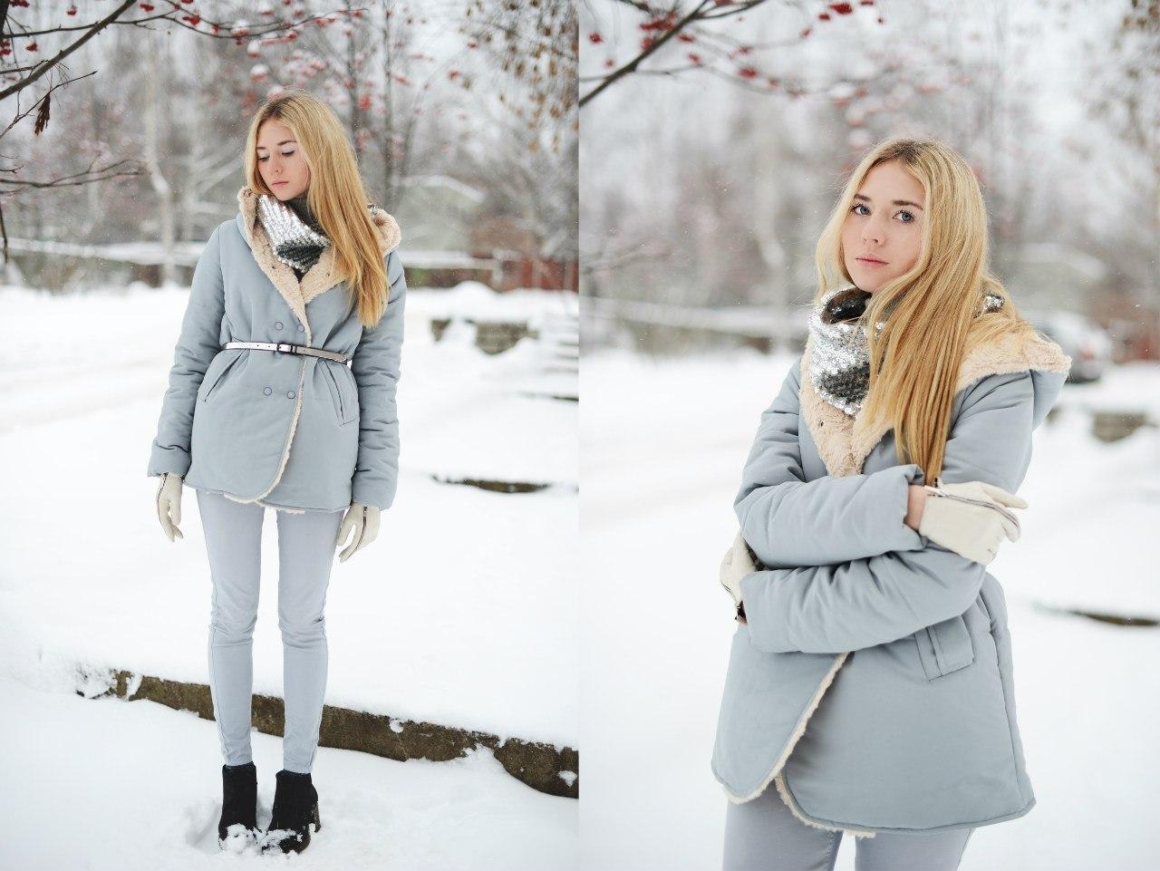 Фото зимний лук для девушки