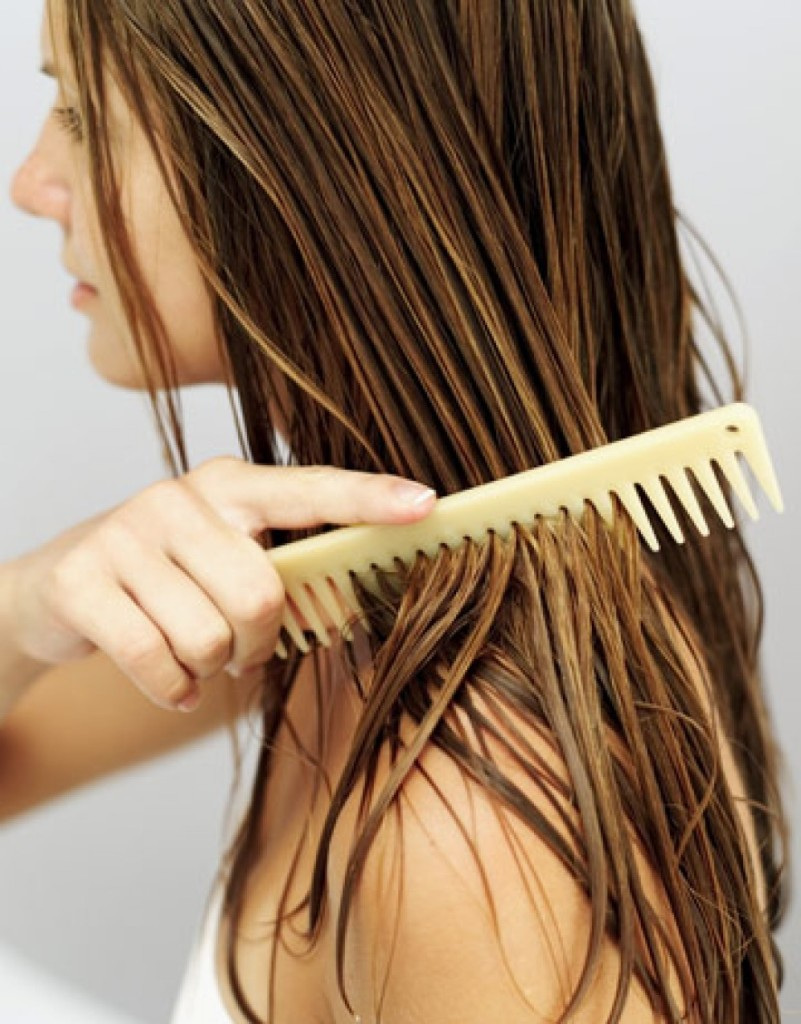 как ммыть масло с волос