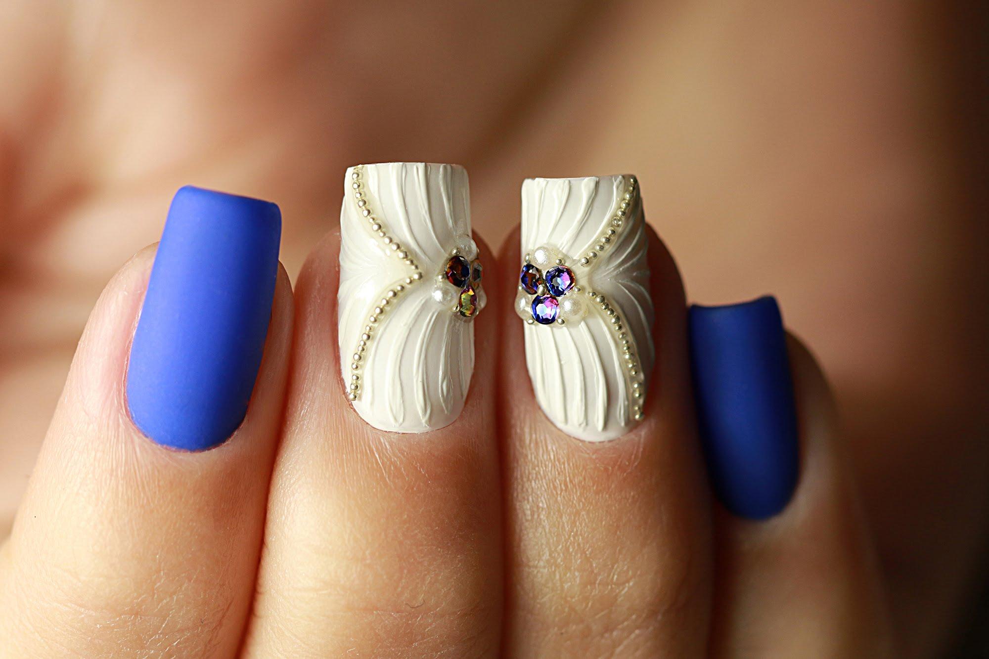 Дизайн «Ракушки» на ногтях гель-лаком 86