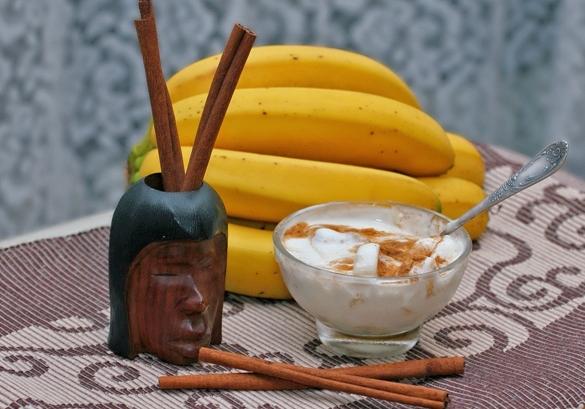 Маска корица и банан
