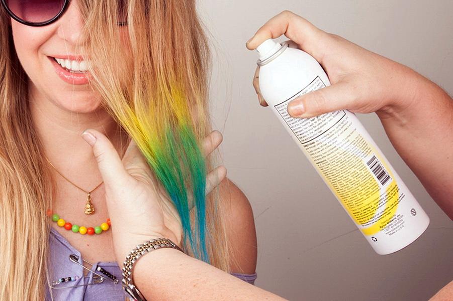 баллончики для волос с краской для