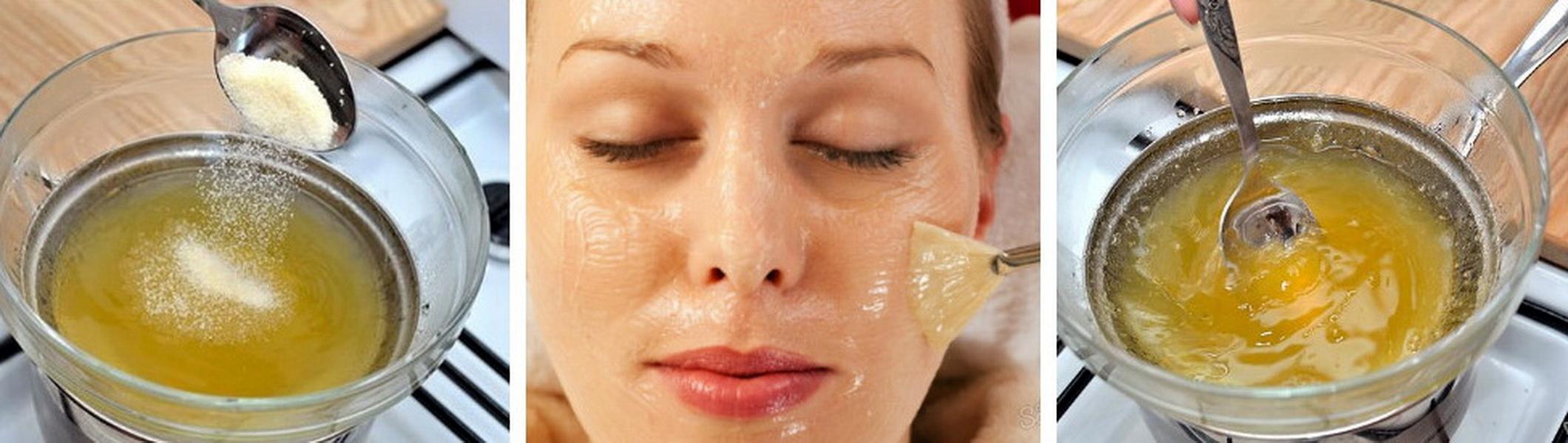 Как дома сделать маску с желатином Маска для лица