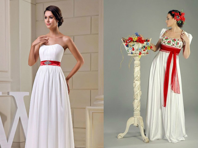1cb74f1d3b5d9fa Атласный пояс для платья: красивые изделия из ленты, свадебные варианты