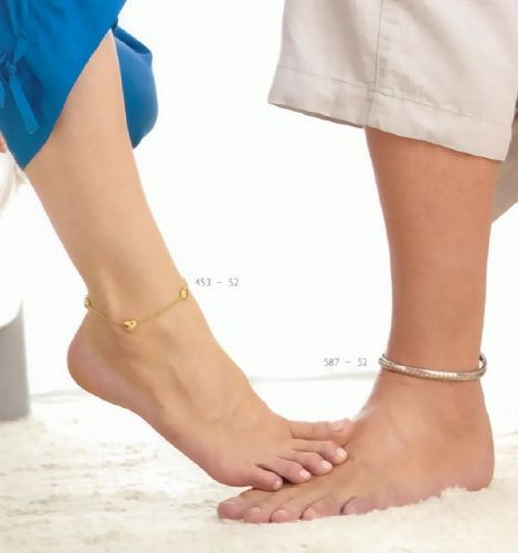 браслет на ногу из серебра женское серебряное украшение из