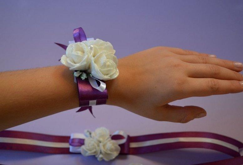 Сделать браслет из цветов