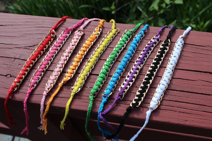 Какие браслеты можно сплести из ниток для вязания 52