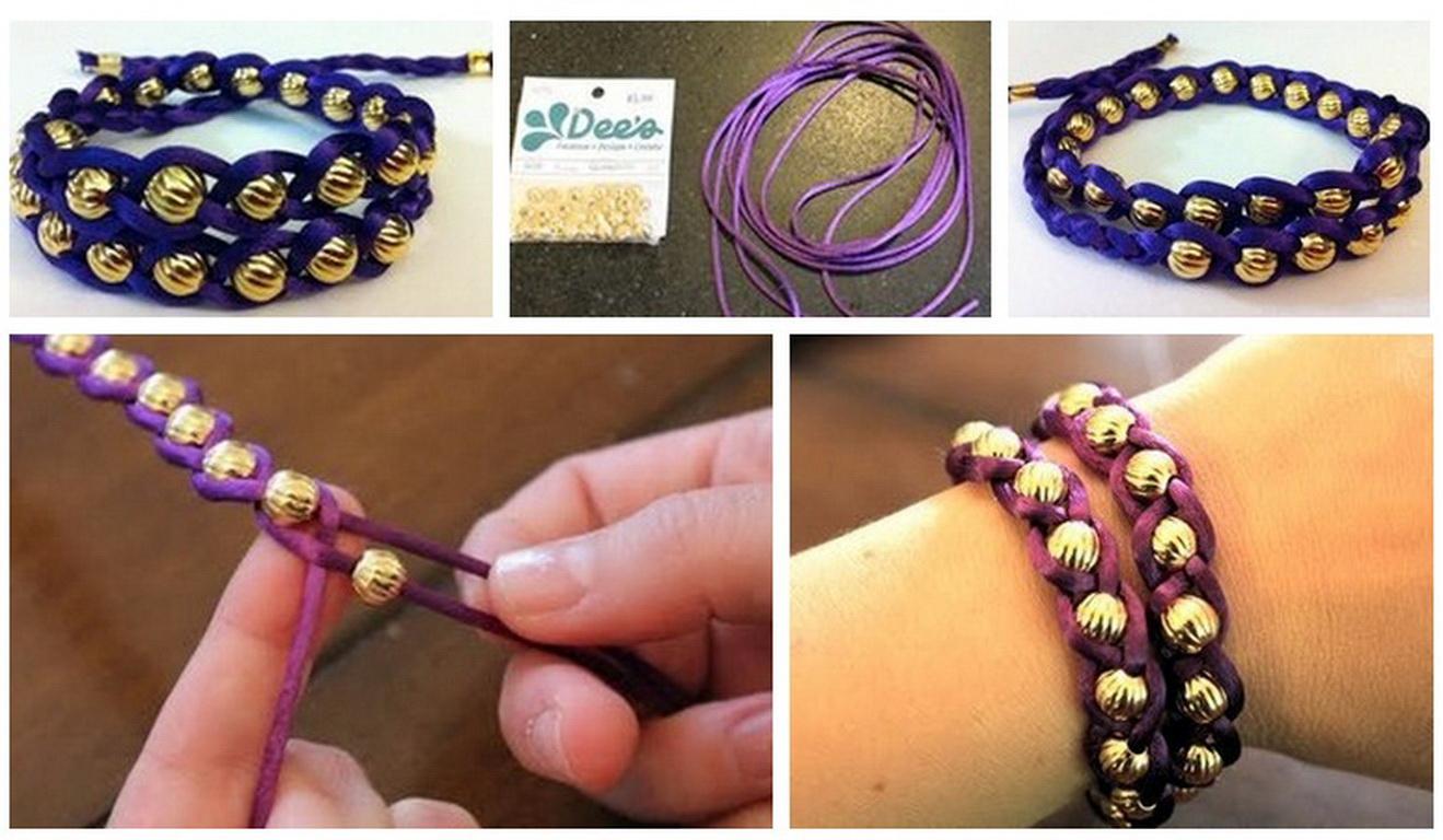 Как сделать именные браслеты своими руками пошагово
