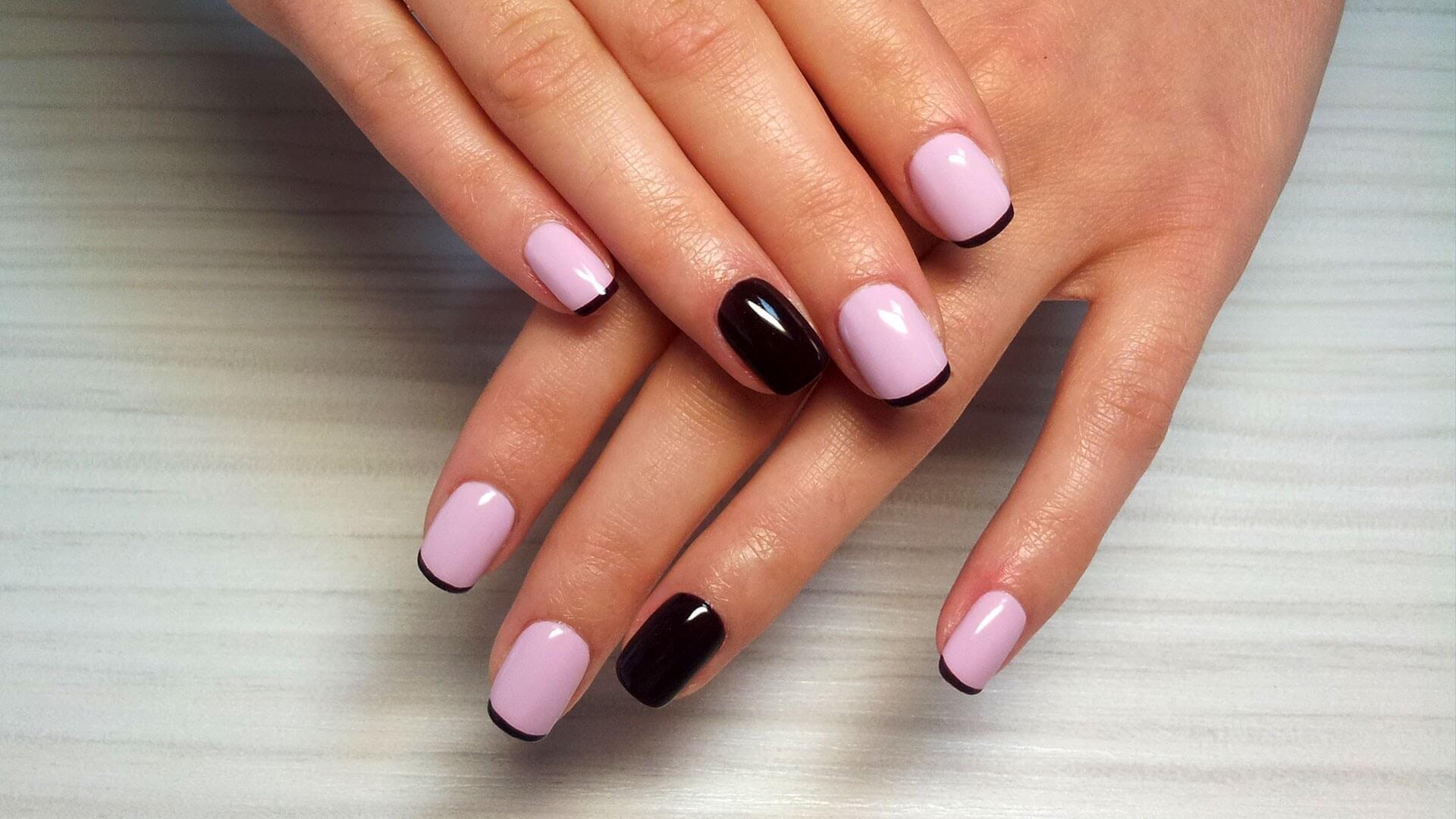 Фото коротких ногтей с гель лаком