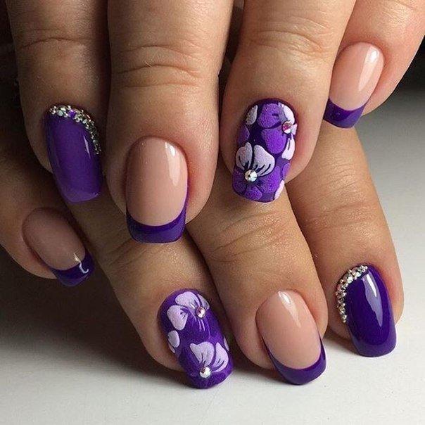 Дизайн ногтей 2017 сиреневый цвет