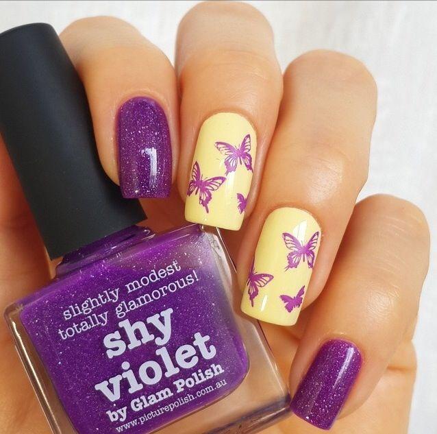 Фиолетовый маникюр - 105 фото роскошного дизайна ногтей 49