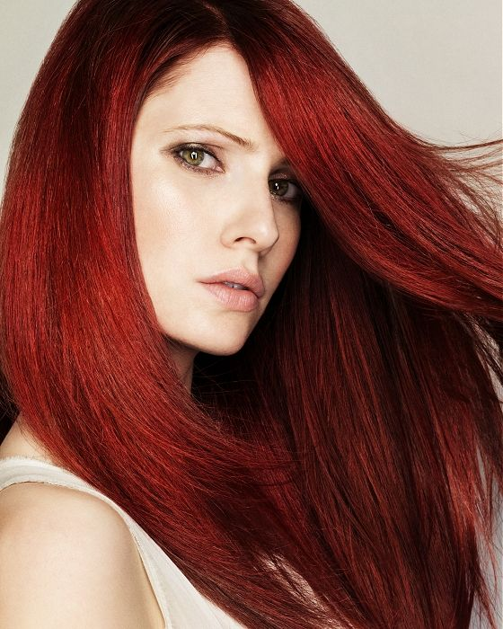 Все оттенки красного цвета волос