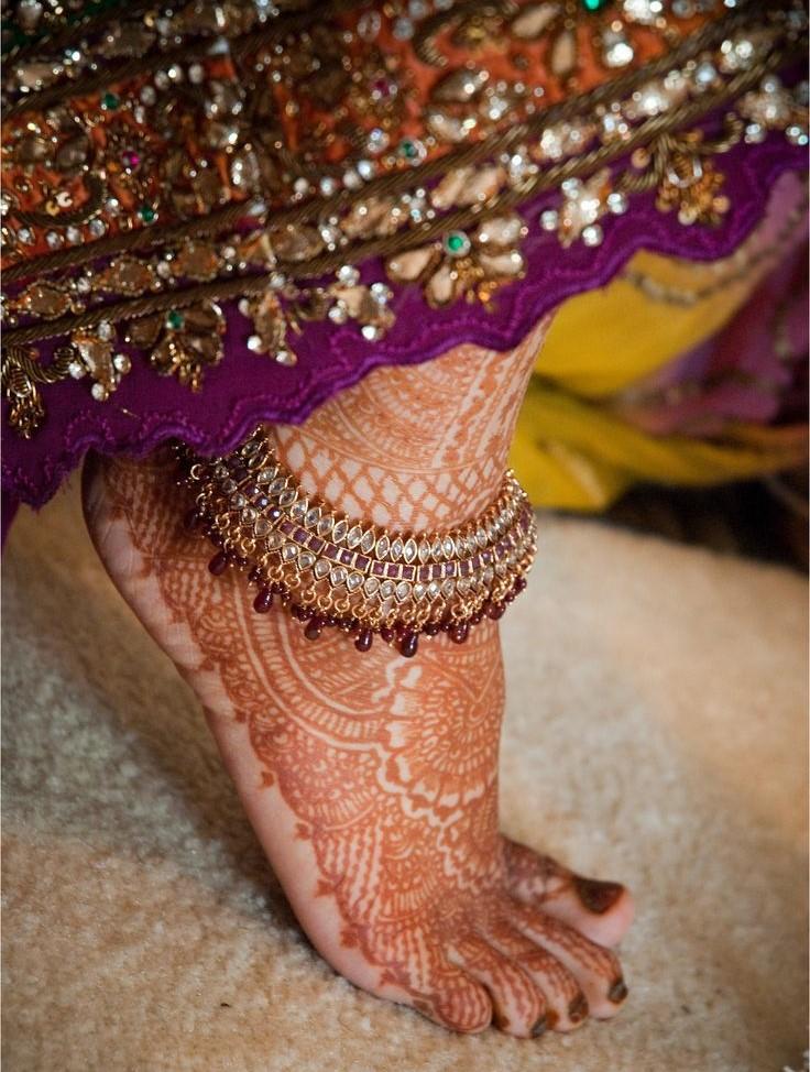 Индийские ножные браслеты своими руками 81